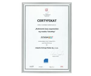 Certyfikat Tetra Map Schrag Polska.