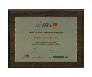 Gazela biznesu 2012 Schrag Polska.