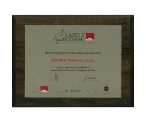 Gazela biznesu 2014 Schrag Polska.