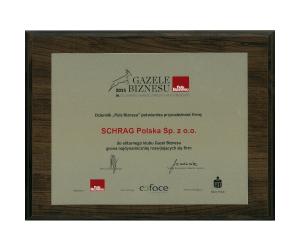 Gazela biznesu 2015 Schrag Polska.