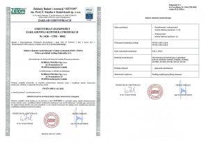 Certyfikat CE Schrag Polska.