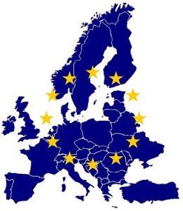Mapa Uni Europejskiej.